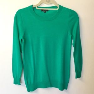 J.Crew Merino Wool Tippi Sweater - Kelly Green - S